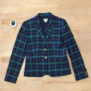 J. Crew plaid blazer, size 2